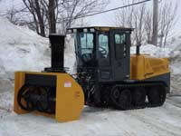 Snow blower for sidewalk tractor